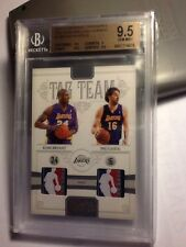2010-11 National Treasures Tag Team NBA Logo Patch Kobe / Gasol /5 BGS 9.5 1/1.