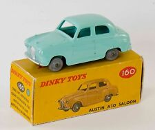 Dinky No 160 Austin A30 Saloon. Turquoise (Boxed/Original 1960s)