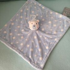 PRIMARK SPOTTY WHITE-BLUE TEDDY COMFORTER BNWT