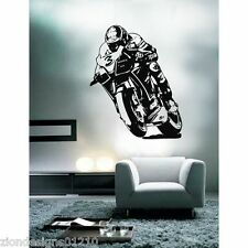 MAX BIAGGI Wall Art 01 MOTO RACER Decalcomania Grafica Adesiva Unica
