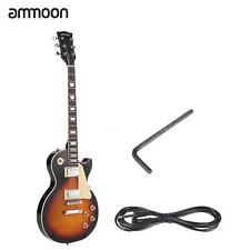 ammoon Electric Guitar 6 String 23 Fret Basswood Body+ Cable Sunburst Hot G5T9