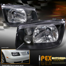 For VW 1999-2005 Jetta MK4 BORA STYLE Black Headlights W/ Fog Volkswagen New