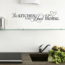 DIY Kitchen Words Wall Stickers Decal Home Decor Vinyl Art Mural Removable Hot