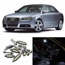 White 25pcs Interior LED Light Kit for Audi B5 B6 B7 A4 S4 Sedan 1996-2008