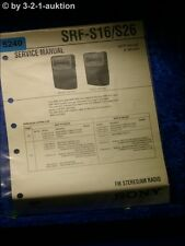 Sony Service Manual SRF S16 /S26 Radio (#5240)
