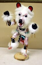 Kachina Doll -Signed Largo - Hand Carved Wood-Leather-Navajo BEAR 15""