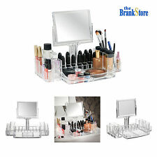 Acrylic Makeup Holder Clear Cosmetic Organizer Lipstick Brush Display Case