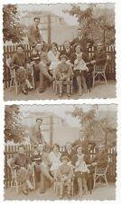 7/631 - 2 x  FOTO DRESDEN o. MEISSEN MARKANTE GEBÄUDE FAM.  HIMMELSBACH um 1918