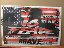 vintage Home of the Brave poster NO FEAR 1998 7399