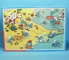 Schlumpf - Spiel Puzzle 1 x 50 : DE SMOERFEN .. am Strand 1831 A KING