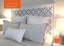 ORCHID Timber Bedhead / Headboard for Queen Ensemble - WHITE