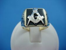 MASONIC MEN'S ANTIQUE RING, 18K AND 14K GOLD COMBINATION, 11.8 GRAMS, SIZE 9