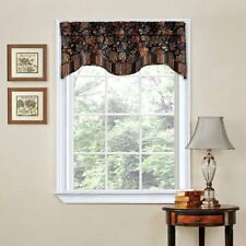 "Traditions by Waverly Navarra Floral Window Valance, 52"" x 16"", Onyx"