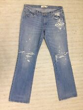ABERCROMBIE & FITCH PAINTED DESTROYED  Sz 10 100%C JEANS ACTL 34X32 OOAK A45