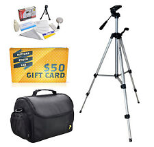 Tripod & Case Kit for DSLR NEX Sony Alpha 7S A6000 A5000 7R 7 A3000 A3500 Camera