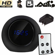 720P Motion Detect HD Camcorder Alarm Clock Spy Camera Remote DVR Video Record