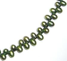 "15"" GREEN Fresh Water Pearl Dancing ~135 Beads ap4x6mm P29"