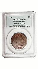 1798 Pcgs Genuine Tooled -G Details Reverse of 1795 Large Cent