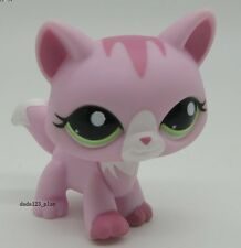 Littlest Pet Shop Loose Figures Collection toy RARE Pink Striped CAT  E75M