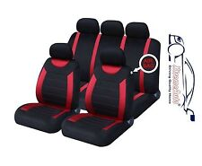 CARNABY RED CAR SEAT COVERS+RUBBER FLOOR MATS Chrysler Voyager Neon Sebring