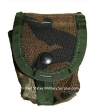 10 Grenade Pouches Molle II Woodland Camo Authentic Military Surplus