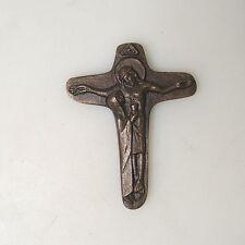 Sammlungsauflösung religiöse Volkskunst hochwertiges Kreuz Wandkreuz Bronze