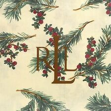 RALPH LAUREN Cedarberry TABLECLOTH 60x84 Rectangle CHRISTMAS HOLIDAY PINE CREAM