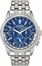 BRAND NEW CITIZEN ECO-DRIVE CALENDRIER BLUE DIAL STAINLESS STEEL BU2021-51L NIB!