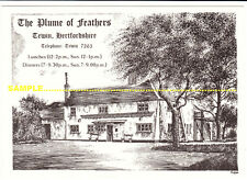 Tewin, C1980s Plume of Feathers Pub advertising, Art by Paul Castle, nr Welwyn