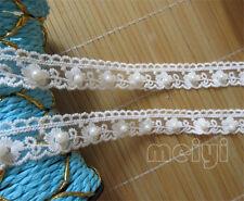 1yd Vintage Pearl Flower Cotton Crochet Lace Edge Trim Ribbon DIY Sewing Crafts