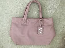 FURLA Small Pink plain Tote bag, medium  9 inches, Genuine leather