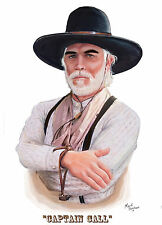 Lonesome Dove,Drawing of Captain Call, Painting of Tommy Lee Jones,Western Art