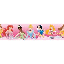 DISNEY PRINCESS Wall Border Wallpaper Decor PINK Room