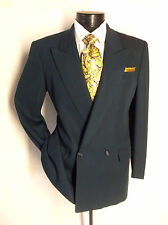 """Lanvin Double Breasted Solid Green  2PC suit 38S pants 30 w""""/28""""L"""