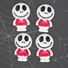 "US SELLER - 10 pcs x 1.25"" Resin Skull Flatback Beads for Jack/Halloween SB614W"