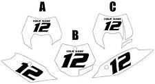 2011-2012 KTM 350SX-F Custom Pre-Printed White Backgrounds Black Numbers