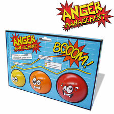 NEW ANGER MANAGEMENT 3 STRESS BALL SET OFFICE TOY GIFT NOVELTY GIFT EXECUTIVE