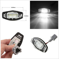 2 x Bright White 18 LED License Plate Light Lamp For Honda Accord Civic Odyssey