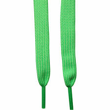 Flat Neon UV Fluorescent Green Shoe Laces for Shoes Trainers Boot Sneakers Boots