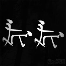 2x CHINESE DOGGY STYLE FUNNY DECAL STICKER CAR VAN WINDOW BIKE JDM EURO SUSHI