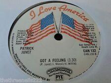 "VINYL 7"" SINGLE - GOT A FEELING - PATRICK JUVET - CAN132"