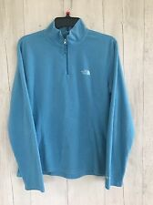 The North Face TKA 100 sz Large Teal womens Fleece Jacket 1/4 zip