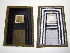 b1159 US Army 1930's- WW 2 First Army Quartermaster patch off white center R2E