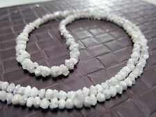 20.13 ct rare natural white raw rough diamond beads 16 '' NECKLACE SEE VIDEO $78