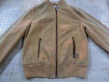 "Womens BEN SHERMAN Leather JACKET Size 10 32"" ORANGE WELL WORN SKU No W202"