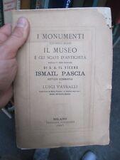 SCARCE 1ST CATALOGUE TO THE CAIRO MUSEUM L. VASSALLI 1867 ITALIAN EDN