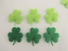 60 Green Shamrock Clover Applique Craft/St.Patrick's Day/bow/leaf/trim H167-Felt