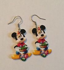 Disney Mickey Mouse Easter HANDMADE Plastic Charm Earrings Bunny Egg Spring Fun