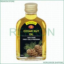 100ml The Best Extra Virgin Siberian Pine Cedar Nut Oil 100% Pure Kosher