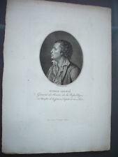 GRAVURE 1830 GENERAL DUBOIS GRANCE GENERAL DES ARMEES DE LA REPUBLIQUE